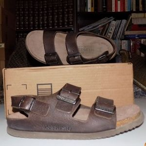 Mephisto Brown leather sandals EU41